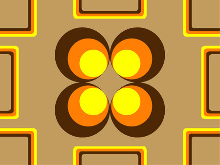 Vector image of 70s wallpaper - repeatable pattern Stock Vector - 2626071