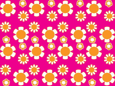 Vector image of 70s wallpaper - repeatable pattern