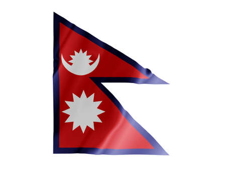Fluttering image of the Nepalese national flag
