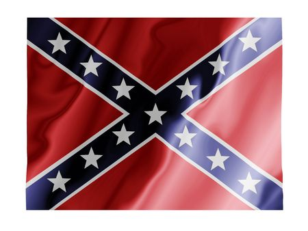 confederate: Fluttering image of the Confederate states flag