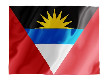 Fluttering image of the Antigua and Barbuda national flag Stock Photo - 2666146