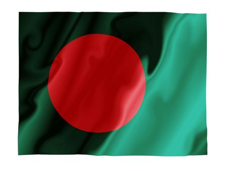 Fluttering image of the Bangladesh national flag photo