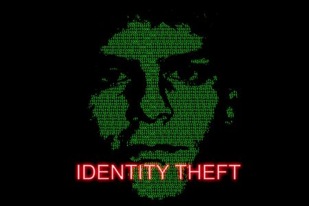 Concept image highlighting the risk of identity theft Stock Photo