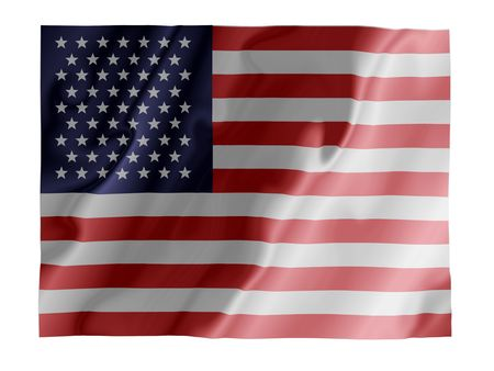 Fluttering image of the American national flag