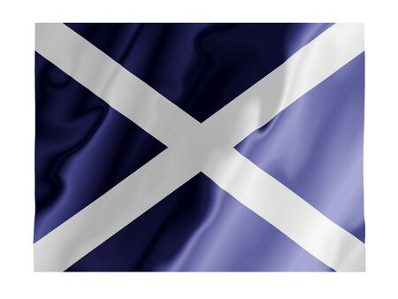 Fluttering image of the Scottish national flag