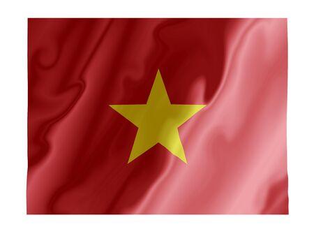 Fluttering image of the Vietnam national flag
