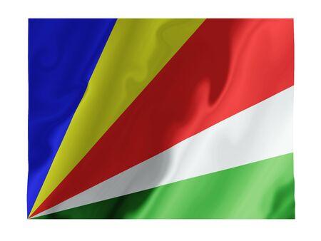 Fluttering image of the Seychelles national flag