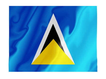 Fluttering image of the Saint Lucia national flag Stock Photo