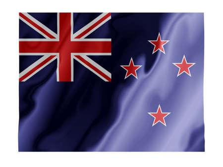 oceana: Fluttering image of the New Zealand national flag