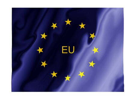 Fluttering image of the European Union flag Stock Photo