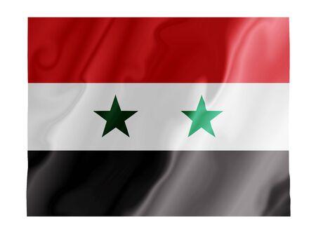 Syryjski: Fluttering obraz Syrii flagi