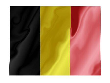 Fluttering image of the Belgian national flag Stock Photo