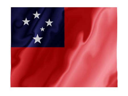 Fluttering image of the Samoan national flag Stock Photo