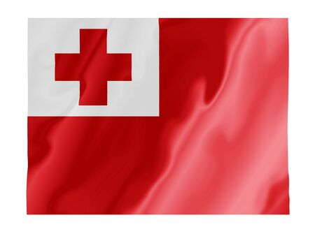 Fluttering image of the Tonga national flag