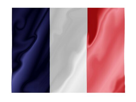 Fluttering image of the French national flag Stock Photo