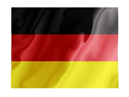 Fluttering image of the German national flag Stock Photo