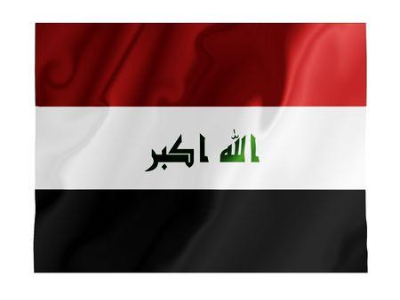iraqi: Fluttering image of the Iraqi national flag