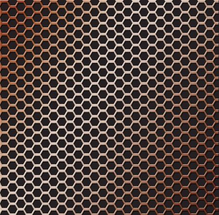 Background illustration of a copper colored metal grill