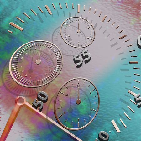 Abstract illustration of time and space distortion Stock Photo
