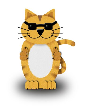 moggy: Illustration of a cool cat in sunglasses against a white background