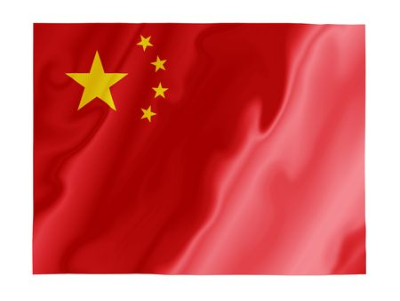 Fluttering image of the Chinese national flag