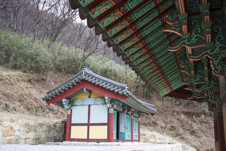 Under the eaves of Sendai Temple