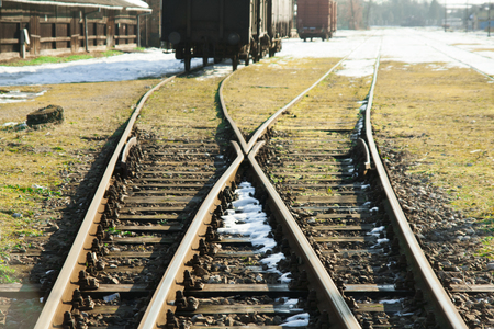 intersect: railways Stock Photo