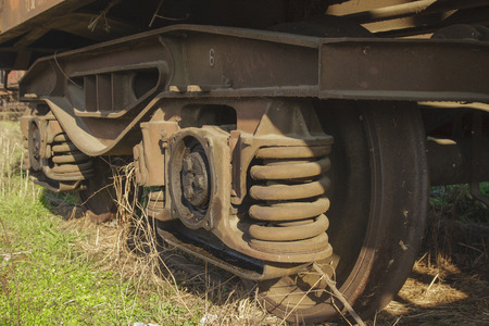caboose: old abandoned train Stock Photo