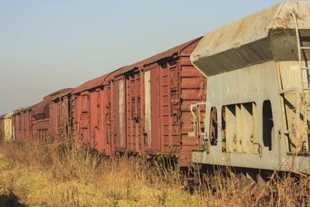 old abandoned train Reklamní fotografie