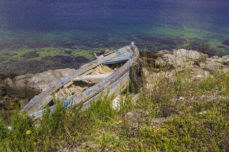 Old wood boat Reklamní fotografie