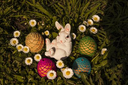 Easter eggs hiding in the grass Reklamní fotografie