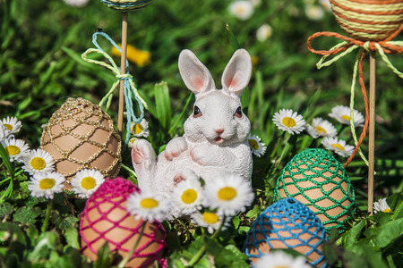 Easter eggs with bunny