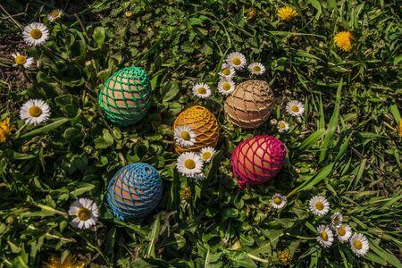 Easter eggs in a grass Reklamní fotografie