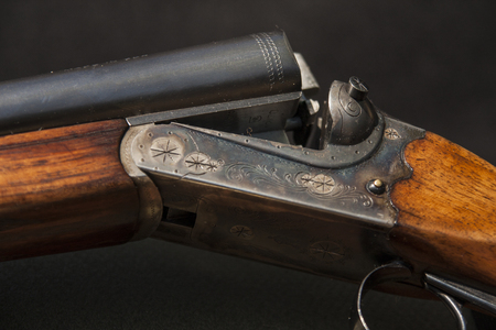 rifle isolated on a black background
