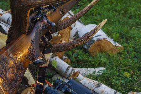 Huntinf rifle Reklamní fotografie