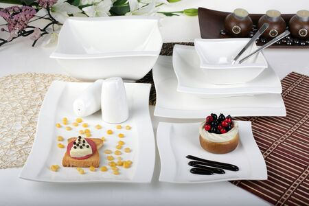 elite porcelain set for gourmets photo