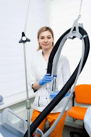 Laser photorejuvenation and carbon peeling. Dermatology and cosmetology. Using surgical laser.