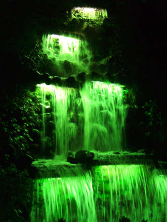plymouth: The New Plymouth festival of lights waterfall Stock Photo