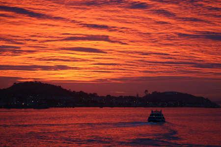 exultation: The Kea ferry making an early morning crossing to Devonport