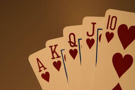 best hand: La mejor mano para un juego de p�quer  Foto de archivo