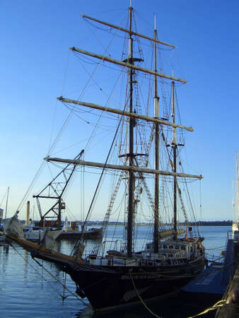 The sprit of adventure docked in New Zealand photo