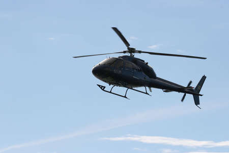 Helecopter comming in to land at a open day photo