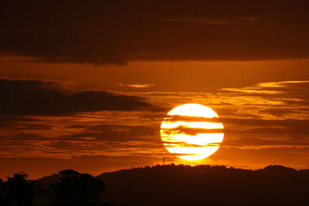 An Amazing Landscape silhouette during the sunset Stock Photo - 915123