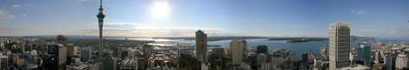zealand: Auckland City on a hot summer day