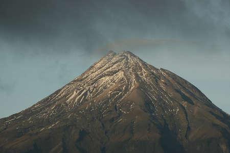 egmont: Mount Egmont with cloud gathering around it
