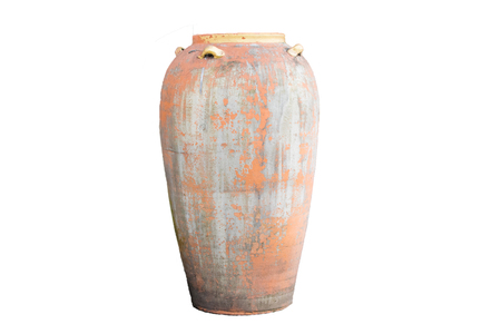 Ancient jar On a beautiful white background, suitable for design work. isolated, background 写真素材
