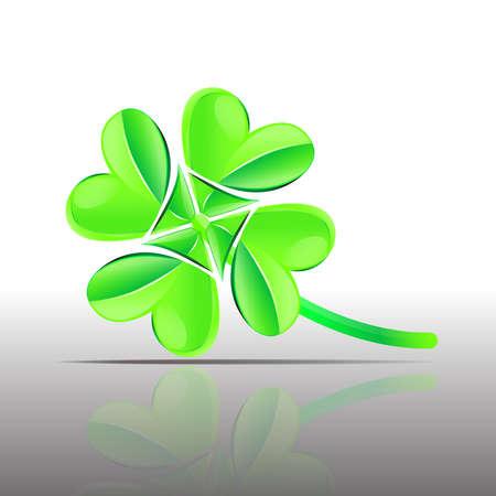 four leaf: vector four leaf clover symbol Illustration