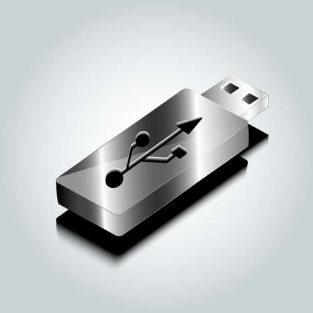 flash drive: silver flash drive stick