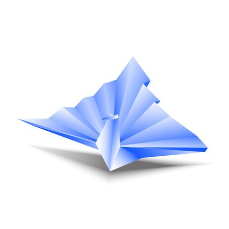 origami bird: Origami bird vectors animal