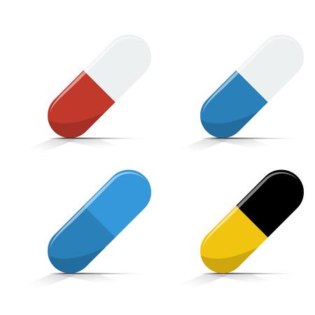 dose: pills medical vector Illustration